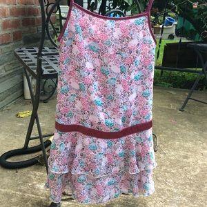 Pink flower girls 8 kids GAP dress